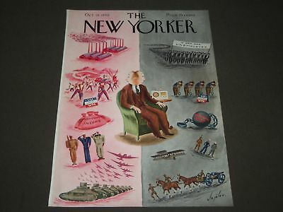 1940 October 19 New Yorker Magazine Front Cover Only - Great Illustrated Art