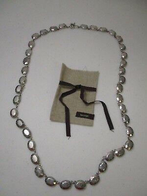 Lee Angel Neiman Marcus Antique Silver Piper Necklace NWT $195