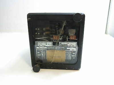 VINTAGE GENERAL ELECTRIC GE TIME OVERCURRENT RELAY MODEL 12IAC11S45 (n1 of 2)