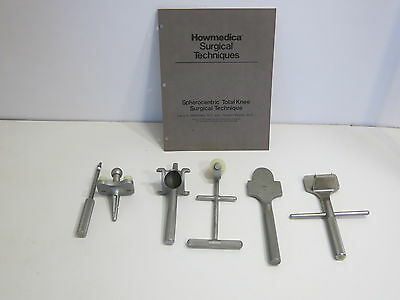 Howmedica Spherocentric Total Knee Orthopedic Surgical Instrument Lot