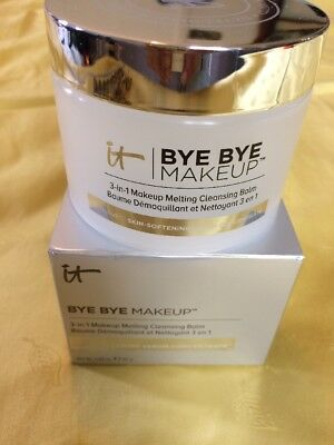 It Cosmetics Bye Bye Makeup Melting Cleansing 3 In 1 Remover Balm 2.82 Oz New!