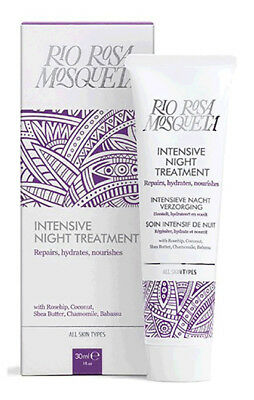 Rio Rosa Mosqueta Intensive NIGHT TREATMENT Moisturiser 30ml Rosehip/Shea Butter