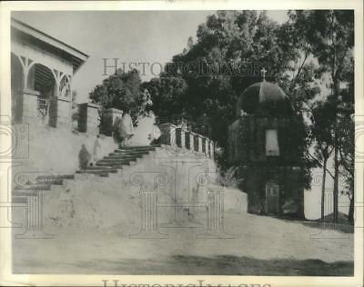 1935 Press Photo An Ancient Temple in Aksum, the holy city of Ethiopians