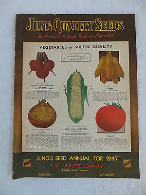 Vintage 1947 JUNG QUALITY SEEDS Annual Catalog Full-Color Randolph, Wisconsin