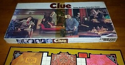 CLUE 1972 Parker Bros General Mills Fun Group vintage whodunnit game complete