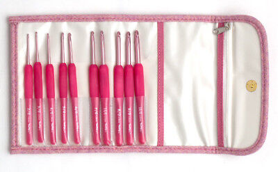 Tulip Crochet Hook Set In Red Carrying Case 3499 Picclick