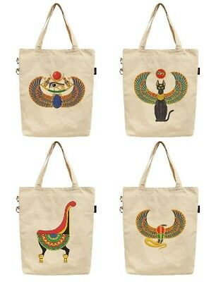 Women's Ancient Egyptian Symbol Printed Canvas Tote Shoulder Bag WAS_40