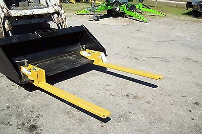 """Forks That Clamp Inside Any Bucket,4000 Lb Capacity,42"""" L, Made in USA,Fits All"""
