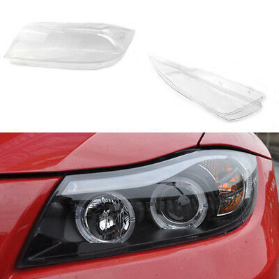 For BMW 3 Series E90 05-12 Clear Headlight Headlamp Lens Cover Right&Left Pair