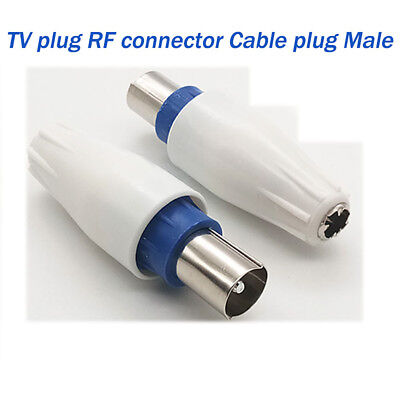 TV Aerial Male Connectors-Coaxial/Coax RF Cable Plug Antenna-satellite Connector