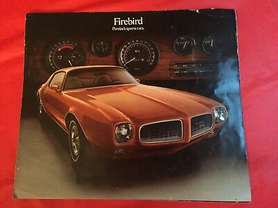 "k. 1973 Pontiac ""Firebird Sports Cars"" Car Dealer Sales Brochure"