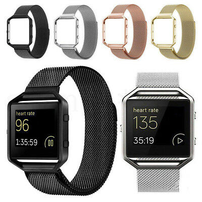 Smart Watch Replacement Milanese Loop Strap Wrist Band & Frame For Fitbit Blaze