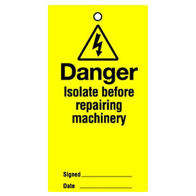 Lockout Tag Danger Isolate Before 100mm (10) (RLT09BR)