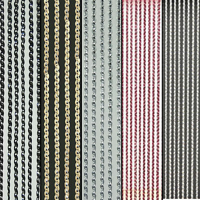 Sparkle String Window Door Curtain Net Panel Fly Screen 5 Colours