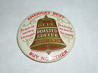 Vintage Advertising Pocket Mirror  Celluloid Bell's Mocha Coffee  S-1719