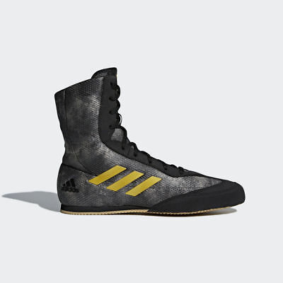 New Adidas Box Hog Plus Black Mens Hi Boxing Boots Shoes