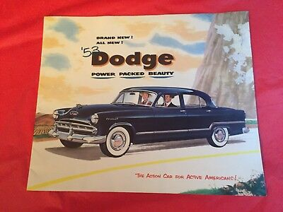 k. 1953 Dodge Car Dealer Sales Brochure