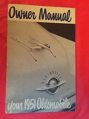 x. 1951 Oldsmobile Car Owner's Manual