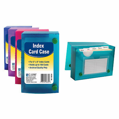 "C Line Products Inc 58335 3"" L X 5"" W Index Card Case Assorted"