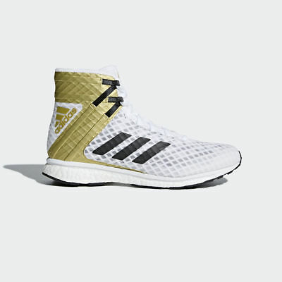 New Adidas Speedex 16.1 Boost White Mens Mid Boxing Boots Shoes rrp £200