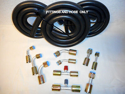 Air Conditioning Hose Kit, O RING FITTINGS & HOSE ONLY, For General Use/Hot Rod