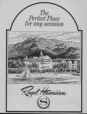 Royal Hawaiian Hotel On The Beach At Waikiki Perfect Place For Any Occasion Ad