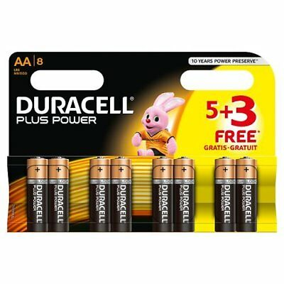 80x Duracell MN1500 Plus Power AA Double A Size Remote Battery Batteries