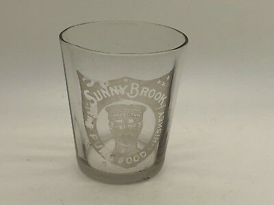 Rare Pre Prohibition Sunny Brook The Pure Food Whiskey PA Shot Glass