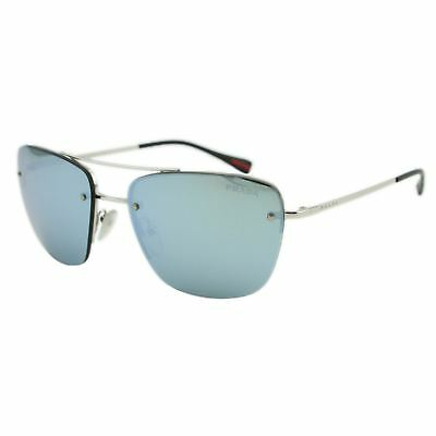 faaafa864b Prada Sport PS52R 1BC-5K2 Linea Rossa Men Silver Mirrored Rimless Sunglasses