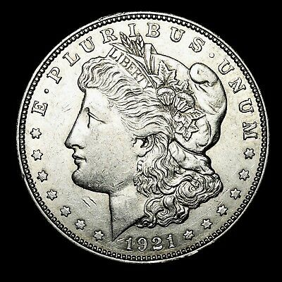 1921 D ~**ABOUT UNCIRCULATED AU**~ Silver Morgan Dollar Rare US Old Coin! #W9