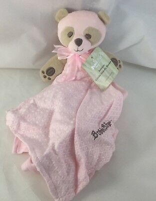 New Bubba Blue Bamboo Cuddle Security Blanket Baby Gift Soft Warm Cuddly Pink