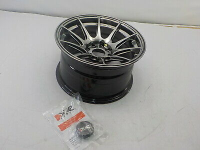JNC 034 Black Chrome 15X8.25 4x100 ET20 Offset Wheel Rim