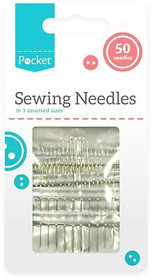 50 x Hand Sewing Needles Craft Embroidery Mend Kit Upholstery Canvas Leather