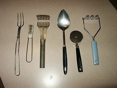 Vintage Lot of Kitchen Utensils Ekco Beddick Androck S&S