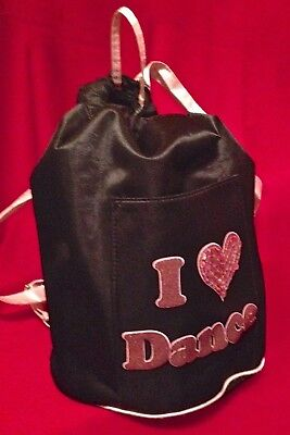 "Dance Shoes Tote/Backpack- ""I (heart) Dance"" in glitter and sequins"