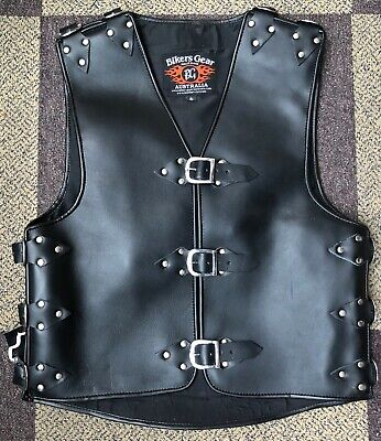 3Heavy Duty Thick A Grade Metal Buckle Motorcycle CRUISER Leather Vest