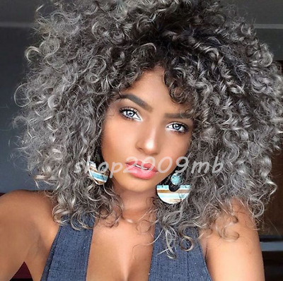 Fashion Curly Wavy Short Hair Bob Wigs For Black Women Red Synthetic