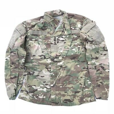US Army Multicam FR Combat Uniform ACU camouflage Coat Jacke Jacket Large Long
