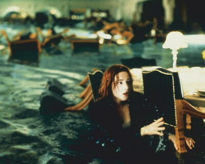 Titanic Kate Winslet Wades Through Flooded Dining Room 8X10 Photo