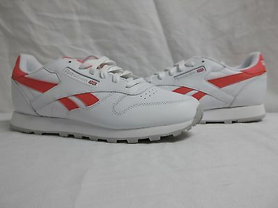 34cca6e3741 Reebok Size 5 M Classic Leather Pop White Running Sneakers New Womens Shoes  NWOB