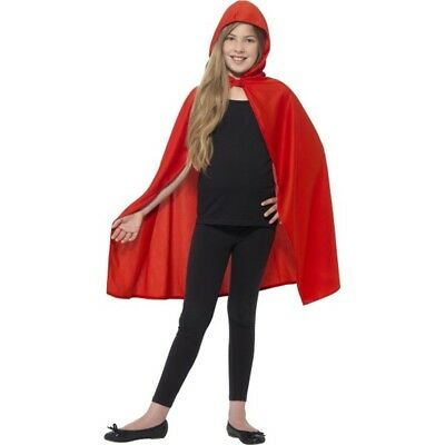 Smiffy's Children's Hooded Cape (small - Medium, Red) - Red Kids Girls Riding