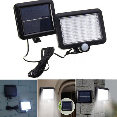 Solar Power 56 LED Light PIR Motion Sensor Outdoor Garden Security Flood Lamp