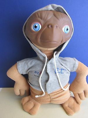"12"" vintage E.T. SOFT TOY FIGURE ALIEN BT HOODIE universal EXTRA TERRESTRIAL d01"