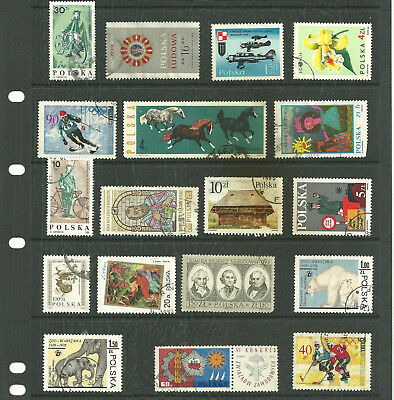 Europe Poland 5  stock sheets mix collection stamps