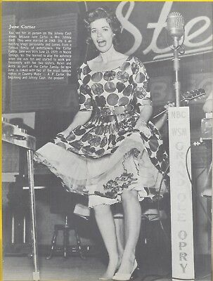 June Carter, Country Music Star in 1968 Magazine Print Photo Item