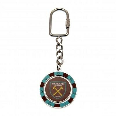 West Ham United Football Club Crest Spinner Keyring PC with Free UK P&P