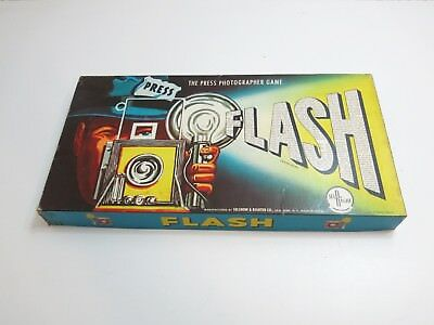 Scarce 1956 Flash - The Press Photographer Game By Selchow & Righter Co Selright