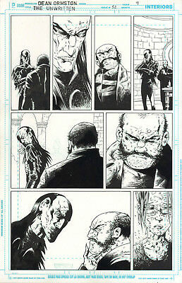 DEAN ORMSTON The Unwritten #52 p9 ORIGINAL COMIC ART Peter Gross