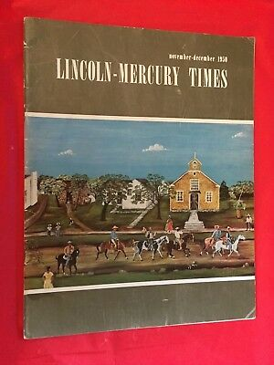 "k. November-December 1950 ""Lincoln-Mercury Times"" Car Dealer Sales Magazine"