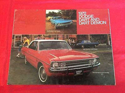 "k. 1972 Dodge ""Dart & Dart Demon"" Car Dealer Sales Brochure"